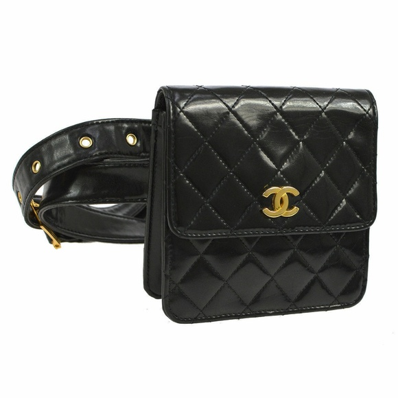 Chanel Bags Chanel Quilted Cc Waist Bum Bag Black Fanny Pack Poshmark